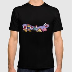 Kirby Friends Black SMALL Mens Fitted Tee