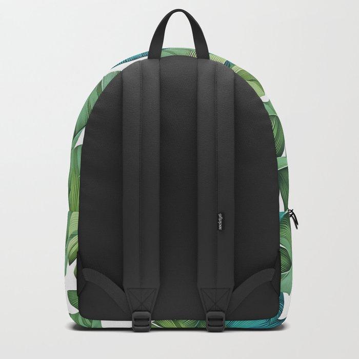 Tropical leaves II Backpack