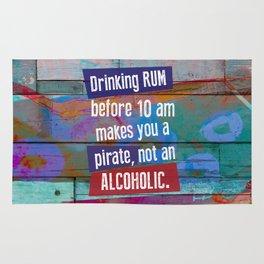 Drinking Rum Before 10 am Rug