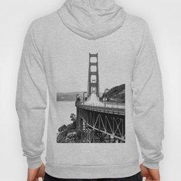 Golden Gate Bridge Black and White Hoody