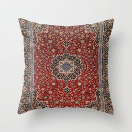 N63 - Red Heritage Oriental Traditional Moroccan Style Artwork Throw Pillow