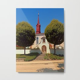 The cemetary church of Schlaegl III | architectural photography Metal Print