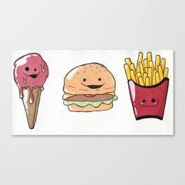 All the Food Cuties Canvas Print