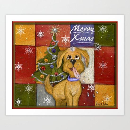 Merry Xmas Art Print