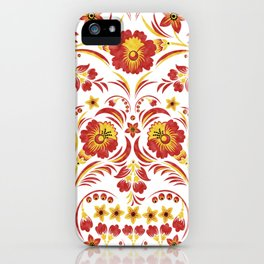 Skull Khokhloma iPhone Case