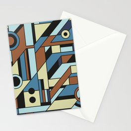 De Stijl Abstract Geometric Artwork 3 Stationery Cards