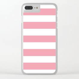 Sweet Sixteen - solid color - white stripes pattern Clear iPhone Case