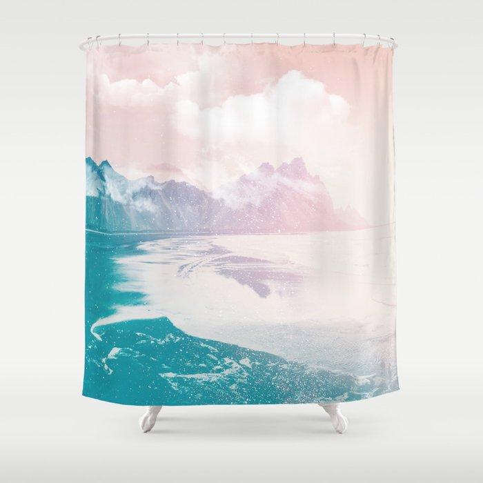Fantasy Island Shower Curtain By Glitch