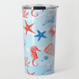 Marine Pattern 09 Travel Mug