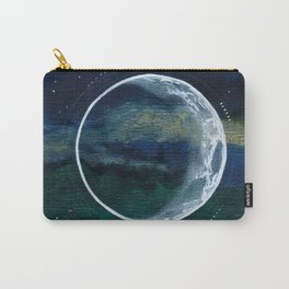 Crescent Moon Mixed Media Painting Carry-All Pouch