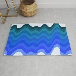 Retro Ripple Sea Wave Rug