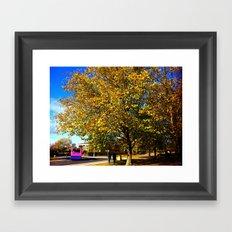An Autumn Stroll Framed Art Print