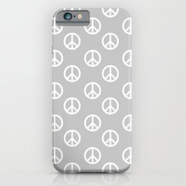 Peace (White & Gray Pattern) iPhone Case