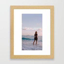 LANY x KARLIE KLOSS Framed Art Print