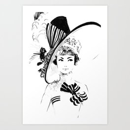 My Fair Lady Fashion Sketch Art Print