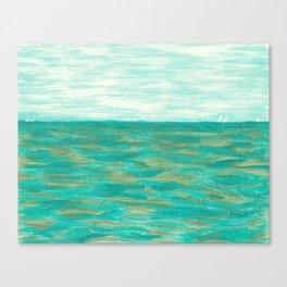 Turquoise & Peridot Sea Canvas Print