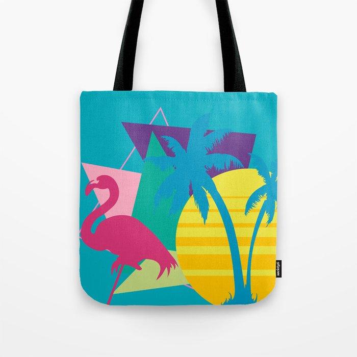 Miami Beach Pink Flamingo Tote Bag