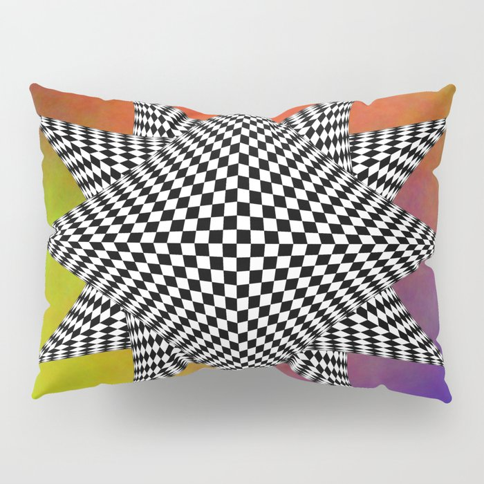 Modern Checkered Plasma Pillow Sham