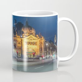 flinders street station in the blue hour Coffee Mug