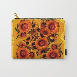 ORANGE YELLOW SUNFLOWERS ART Carry-All Pouch