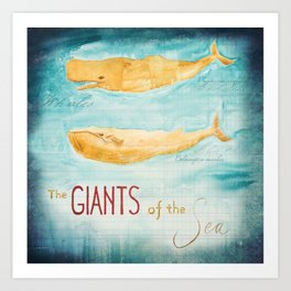 The Giants of the Sea Art Print