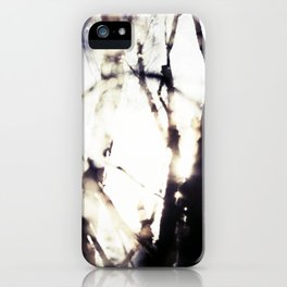 Blurry Trees iPhone Case