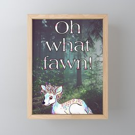 Oh what fawn! Framed Mini Art Print