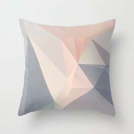 Dora 1 — Poster, scandinavian, art, art print, geometric, pastel, low poly, art pastel, drawings Throw Pillow