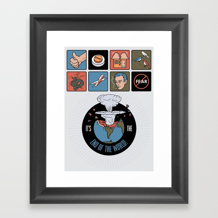 It Starts With An Earthquake Framed Art Print