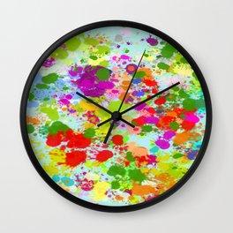 Paint Splattered Sky Wall Clock