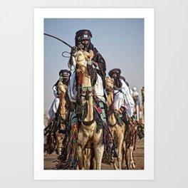 Journey - Tuareg nomads, Africa Art Print