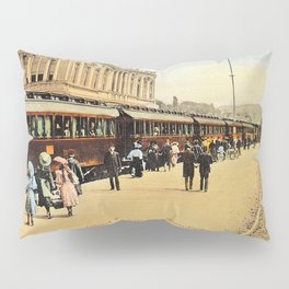 1900s Haydarpasa railroad station, train Pillow Sham