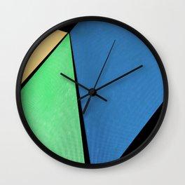 Geometric Pattern: Sky, Earth, and Sun Abstract Wall Clock