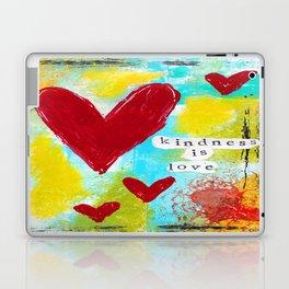 KINDNESS IS LOVE Laptop & iPad Skin