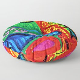 Pablo Picasso - Reclining woman and character - Digital Remastered Edition Floor Pillow