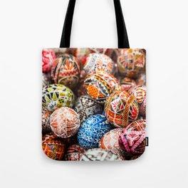 Handpainted Eggs Tote Bag