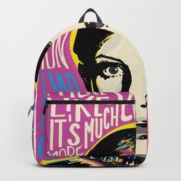Twiggy Pop Art Portrait Backpack