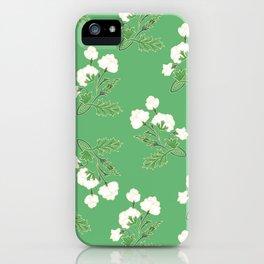Cotton flowers iPhone Case