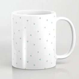 Soft Mint Triangle Pattern Coffee Mug