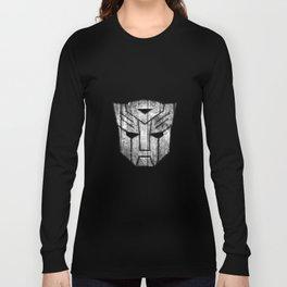 Autobot Monochrome Wood Texture Long Sleeve T-shirt
