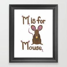 M is for Mouse Framed Art Print