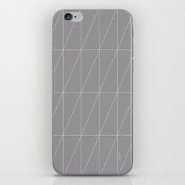 Grey Triangles by Friztin iPhone Skin