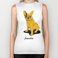frenchie Biker Tanks featuring Frenchie by andiroses