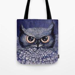 La Sagesse du Hibou (The Blue Owl) Tote Bag
