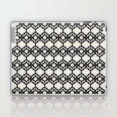 Lattice Stars in Black and Ivory Laptop & iPad Skin