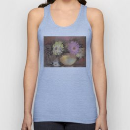 Asters. Bouquet in a Vase. Flowers Unisex Tank Top
