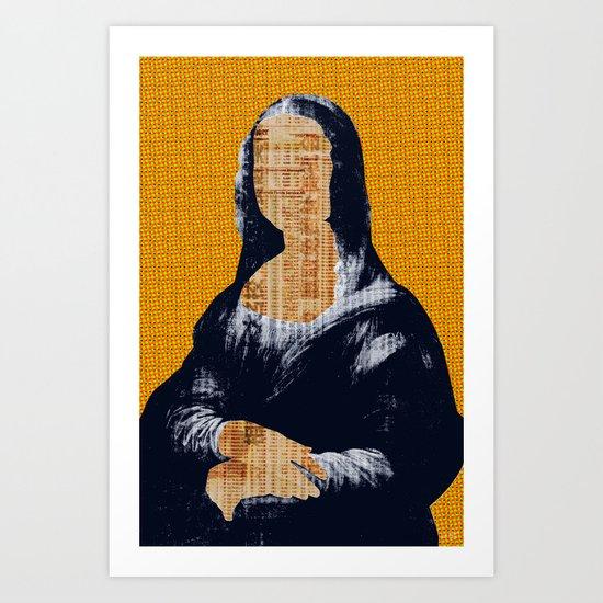 Mona Lisa · yellow press Art Print