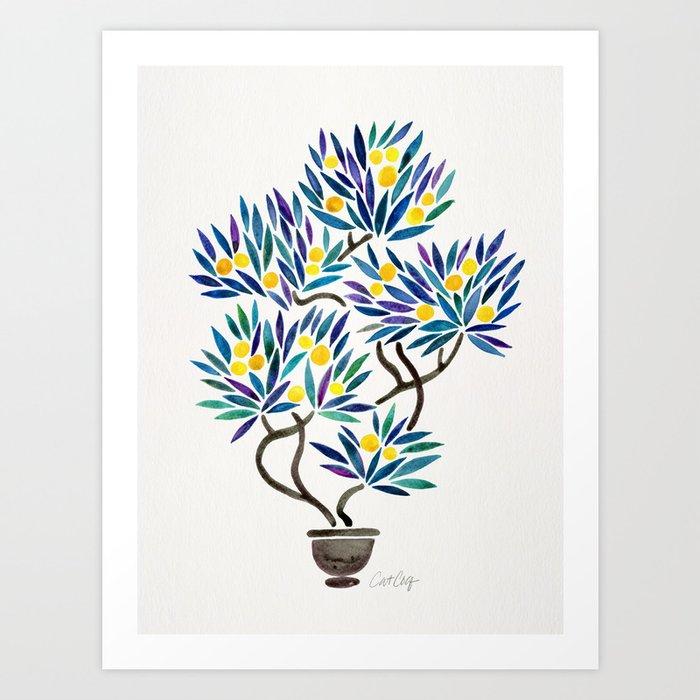Bonsai Fruit Tree – Lemons Art Print