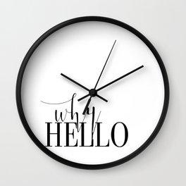 Fashion Poster Fashion Wall Art Girl Room Art Why Hello Funny Fashion Quote Printable Wall Art Wall Clock