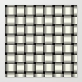 Large Ivory Weave Canvas Print